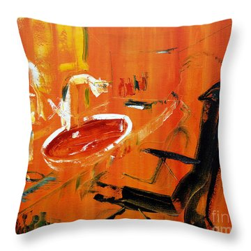 The Barbers Shop - 3 Throw Pillow