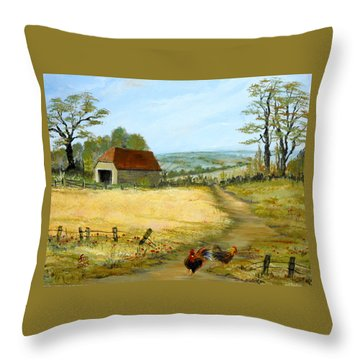 The Barn At The Farm Throw Pillow