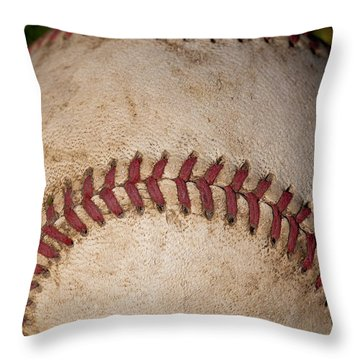 The Baseball II Throw Pillow by David Patterson