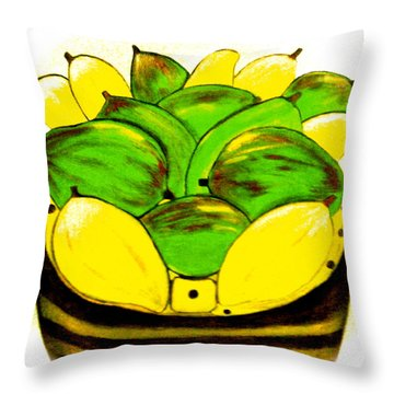 Throw Pillow featuring the painting The Basket by Lorna Maza