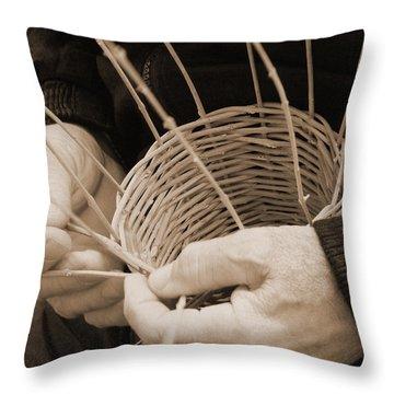 The Basket Weaver Throw Pillow