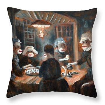 Tater Eatin Throw Pillow by Randy Burns