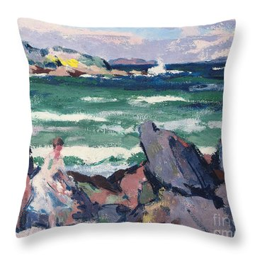 The Bather Throw Pillow by Francis Campbell Boileau Cadell