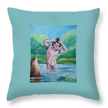 The Bather Throw Pillow