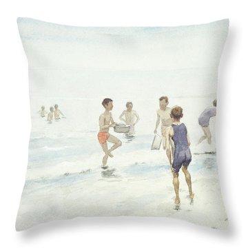 The Bathers Throw Pillow