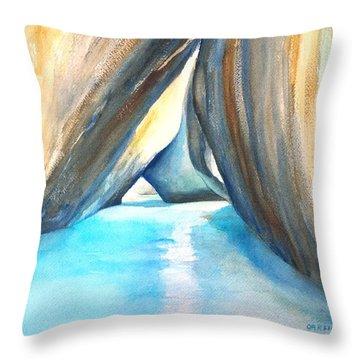 The Baths Azul Throw Pillow