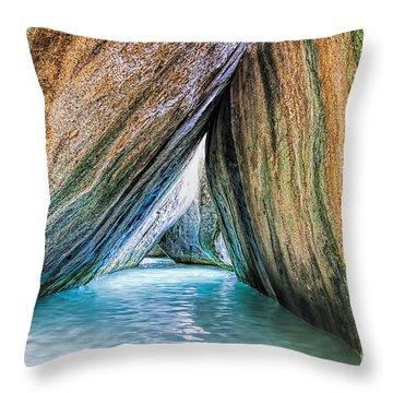 The Baths Virgin Gorda British Virgin Islands Throw Pillow by Olga Hamilton