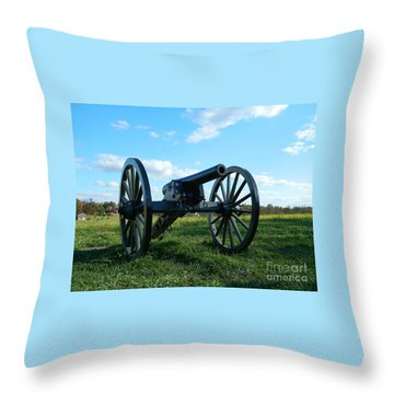 Throw Pillow featuring the photograph The Battle Is Over - Gettysburg by Emmy Marie Vickers