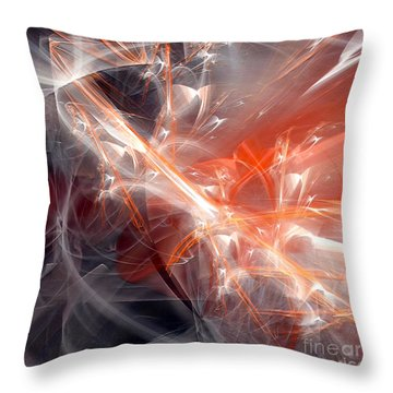 Throw Pillow featuring the digital art The Battle by Margie Chapman