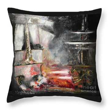 The Battle Throw Pillow by Michael Kulick
