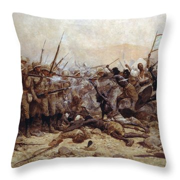 The Battle Of Abu Klea, 17th January Throw Pillow