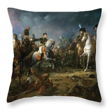 The Battle Of Austerlitz Throw Pillow