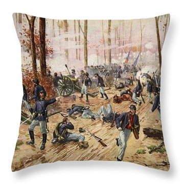 The Battle Of Shiloh April 6th-7th 1862 Throw Pillow
