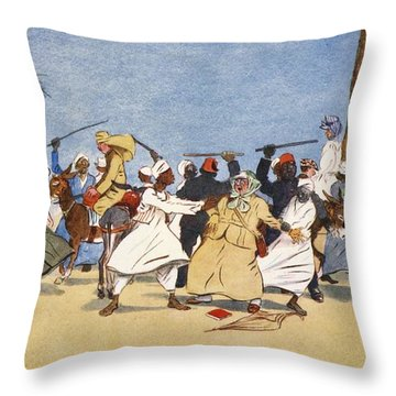 The Battle Of The Nile, From The Light Throw Pillow by Lance Thackeray