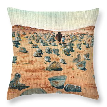 The Battlefield Throw Pillow by Jera Sky