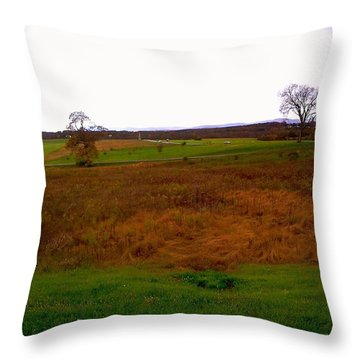 The Battlefield Of Gettysburg Throw Pillow