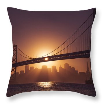 Throw Pillow featuring the photograph The Bay by Dustin  LeFevre
