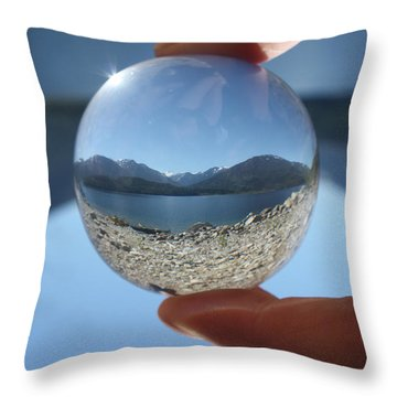 The Beach Throw Pillow by Cathie Douglas