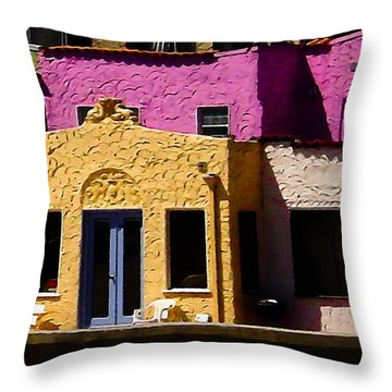 Throw Pillow featuring the photograph The Beach House by Jim Thompson