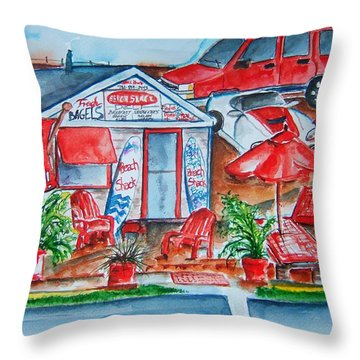 The Beach Shack Throw Pillow