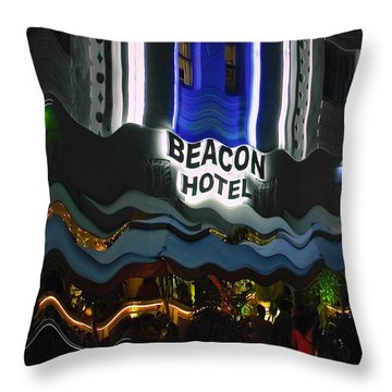 Throw Pillow featuring the photograph The Beacon Hotel by Gary Dean Mercer Clark