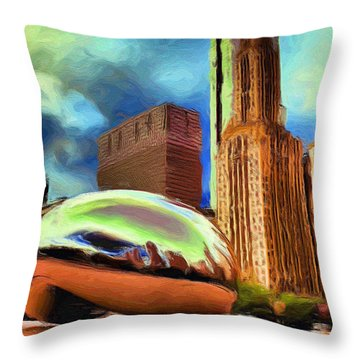 The Bean - 20 Throw Pillow by Ely Arsha