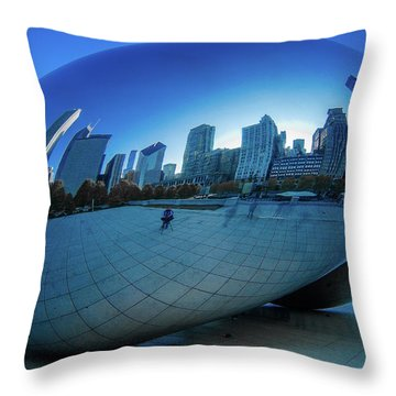 The Bean Throw Pillow by Jonah  Anderson