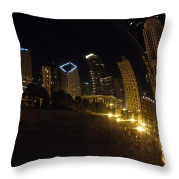 Throw Pillow featuring the photograph The Bean by Tiffany Erdman