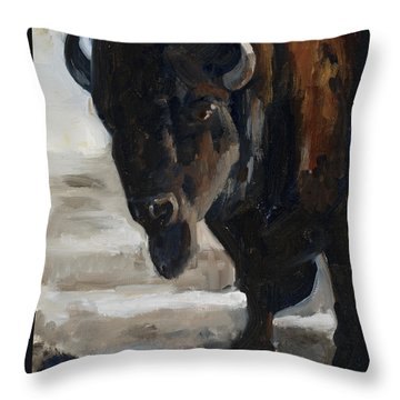 The Bearded One Throw Pillow by Billie Colson