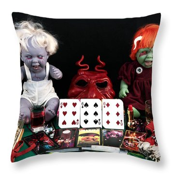 The Beast Throw Pillow by John Rizzuto