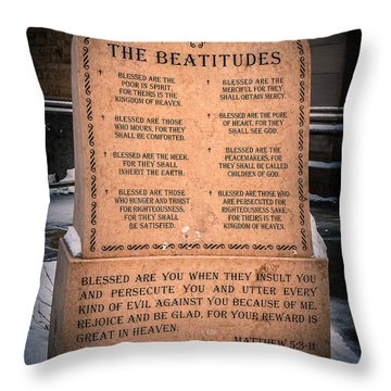 The Beatitudes Throw Pillow