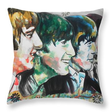 The Beatles 01 Throw Pillow
