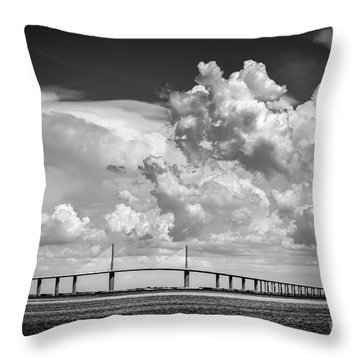 The Beautiful Skyway Throw Pillow