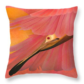 The Beauty Flight - Limited Edition 1 Of 10 Throw Pillow