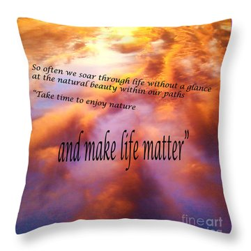 The Beauty In Nature Throw Pillow by Robin Coaker