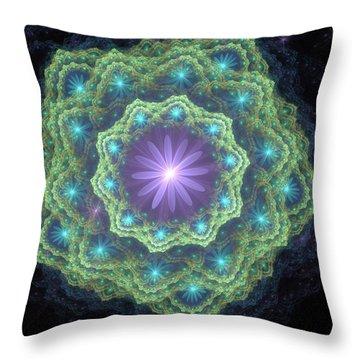 Throw Pillow featuring the digital art The Beauty Inside by Svetlana Nikolova