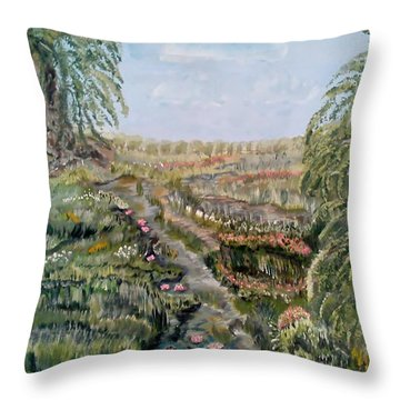 The Beauty Of A Marsh Throw Pillow by Felicia Tica