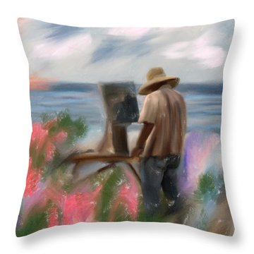 The Beauty Of A Painter Throw Pillow by Angela A Stanton