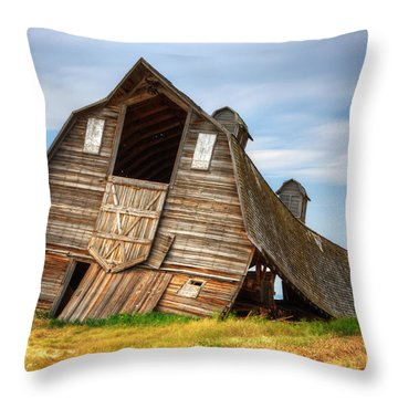 The Beauty Of Barns  Throw Pillow by Bob Christopher