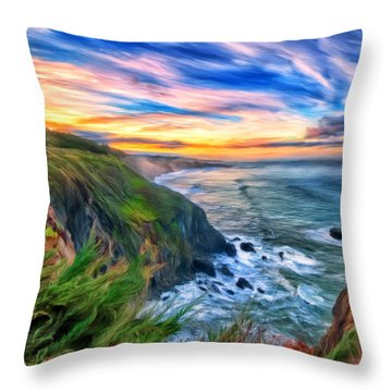 The Beauty Of Big Sur Throw Pillow by Michael Pickett