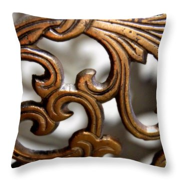 The Beauty Of Brass Scrolls 1 Throw Pillow