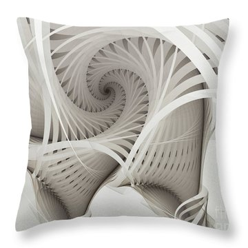 The Beauty Of Math-fractal Art Throw Pillow