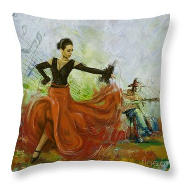 The Beauty Of Music And Dance Throw Pillow by Corporate Art Task Force