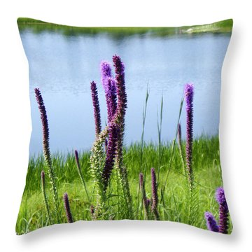 Throw Pillow featuring the photograph The Beauty Of The Liatris by Verana Stark