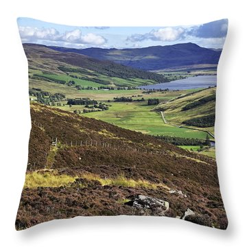 The Beauty Of The Scottish Highlands Throw Pillow by Jason Politte