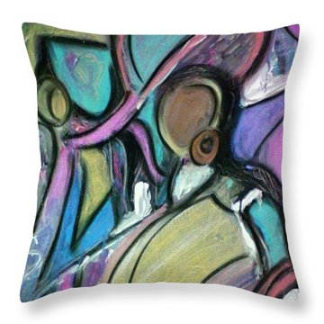 Beauty Salon Throw Pillow by Kelly Turner