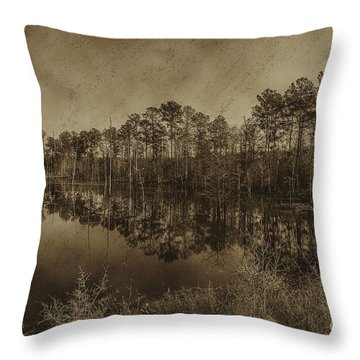 The Beaver Pond Throw Pillow