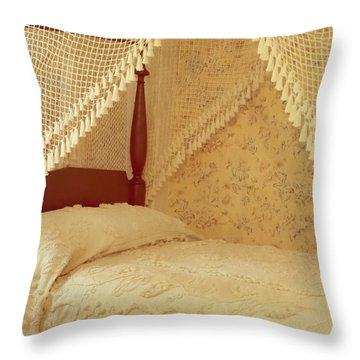 The Bedroom Throw Pillow by Edward Fielding