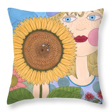 The Bee Doctor Throw Pillow