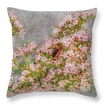 The Bee Throw Pillow by Hanny Heim
